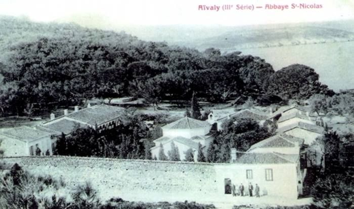 A panoramic view of the Abbey of Saint Nicholas, Ayvali 1906.