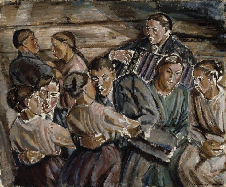 Tyko Sallinen (1879-1955) Jytkyt / The Barn Dance 1918 - Finland
