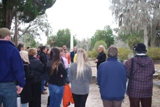 Shannon Scott leading an After Hours Tour at dusk.