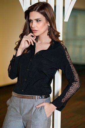 Trend: Ofisten Şehre by Pretty Mark · Kadın Tekstil - Siyah Gömlek 1006678 %56 indirimle 34,99TL ile Trendyol da
