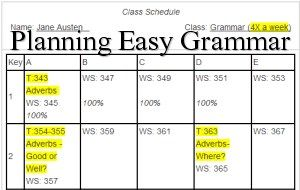 """Planning Easy Grammar - This page is an introduction to """"Series Plans"""" - a.k.a. Subject Plans.  It is a type of planning that I recommend. The page includes an example, relevant links, and tips."""