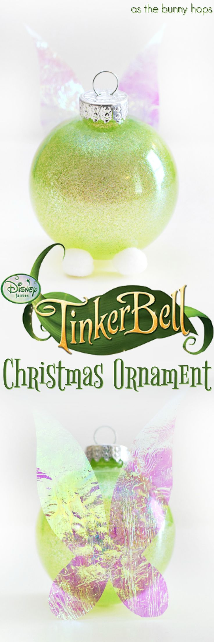 Tinker Bellinspired Christmas Ornament