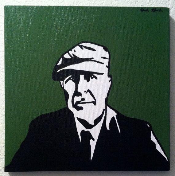 Leonard Cohen 10 x1 0 Pop Art Painting with Dark by anINSTITUTE, $40.00