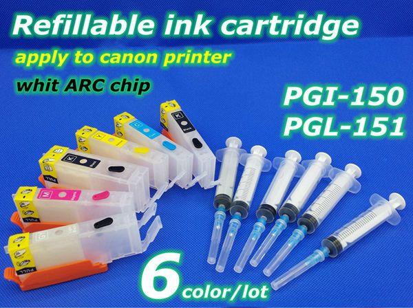 Купить товарPgi 150 CLI 151 6 color многоразового картридж применить к принтера в категории Чип картриджана AliExpress.        Заправка чернила картридж            6 цвет совместимы Заправочные патроны чернил + ARC чип      &nbs