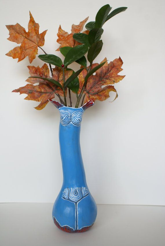 Decorative ceramic sculptural vase Charming by Dellatola on Etsy