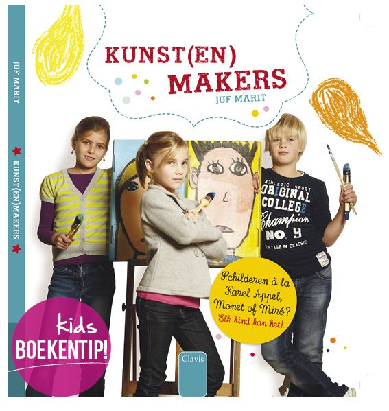 kunst (-en) makers kinderboekentip op www.moodkids.nl knutselboek voor kinderen #DIYbook #doeboek #diy