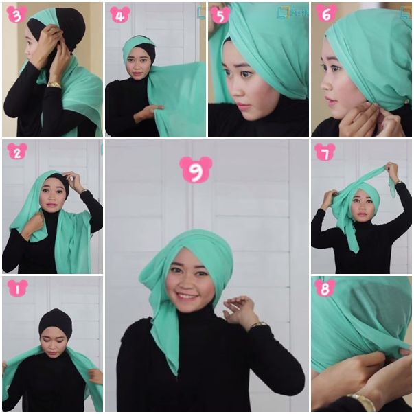 Tutorial Hijab Turban Segi Empat/Square Hijab Tutorial Turban