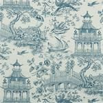 Full Sails Indigo Asian Toile Indigo Blue : Fabric by the yard for custom window treatments (roman shades, draperies, top treatment options like valances, swag or cornice board ) Commercial codes: Fire Resistance: UFAC 1, CAL 117, NFPA 260 :