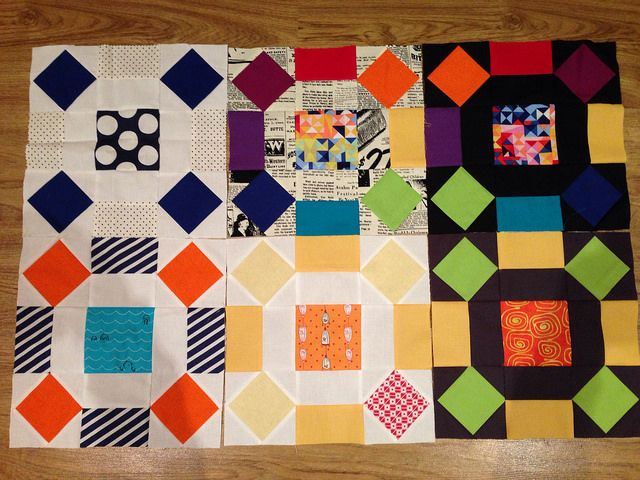4x5 modern quilt bee blocks