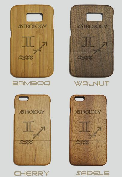 Astrology Engraved Wood Phone Case
