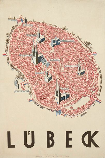 Lübeck, Germany, design: Alfred Mahlau, 1934