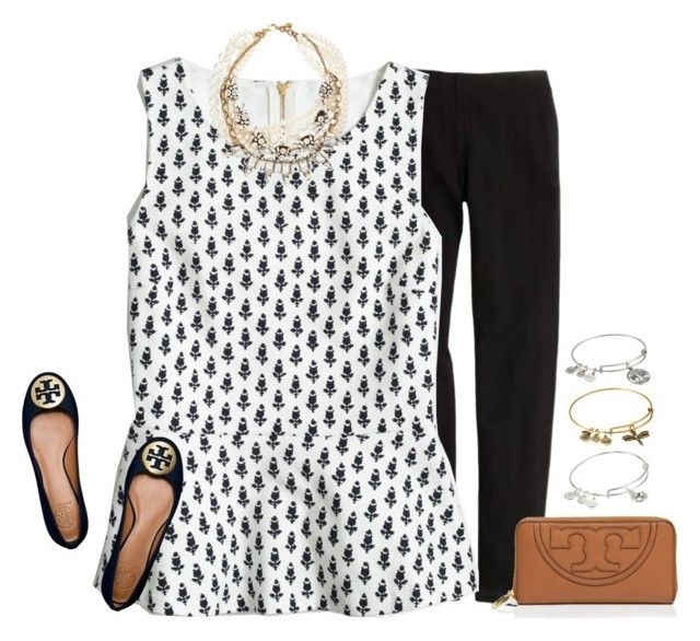 """""""❤️RTD❤️"""" by lucynew44 ❤ liked on Polyvore featuring J.Crew, Lulu Frost, Tory Burch and Alex and Ani"""