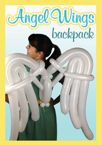 Nifty Balloons - Angel Wings Backpack, Balloon-Animals.com