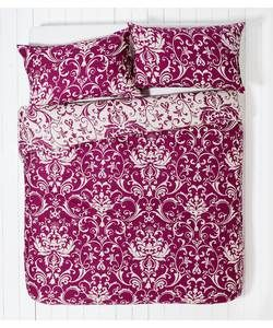 HOME Raspberry Damask Bedding Set - Kingsize.