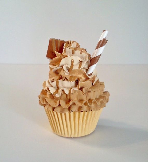 Gourmet Caramel Pumpkin Fake Cupcake Photo Props Home Decor Kitchen Giftsu2026