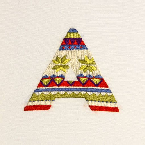 letter A: Craft, Alphabet, Type, Maricormaricar, Typography, Sweater Letters, Embroidery, Design, Maricor Maricar