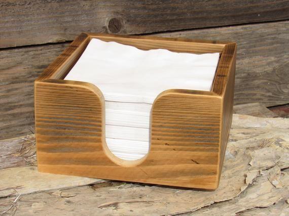 Napkin Holder, Napkin Holder Wood, Napkins, Napkin Caddy, Napkin Box Wood, Farmhouse Decor, Napkin B