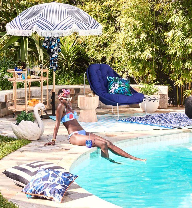 Basil Bangs Outdoor Cushion - Botanica