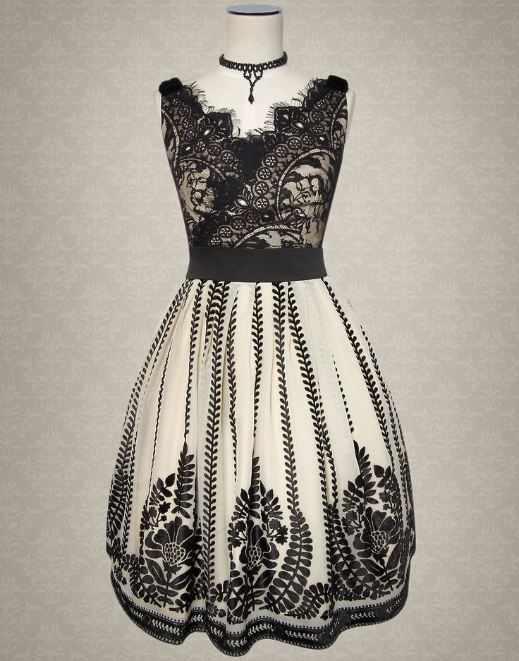 🎀 Kitten D'Amour - Notre Dame Dress -new vintage pinup rockabilly - evening wear, cream black lace patterned 🎀 Buy Recent Collections: http://www.kittendamour.com/brand_collections 🎀 Buy & Sell Old Collections: https://www.facebook.com/groups/1384135828515551/