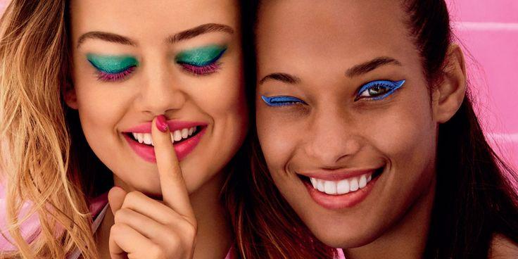 Maquillaje de fiesta, alegre y divertido, para este verano