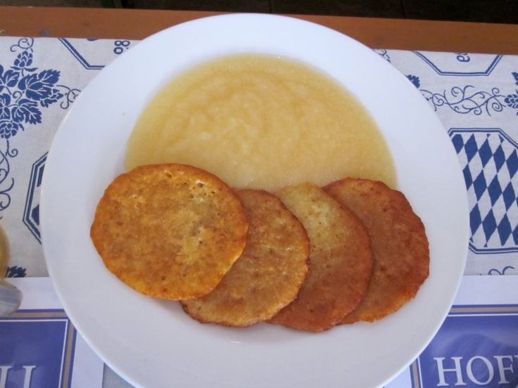 If you enjoy less dough and more crunch, try a kartoffelpuffer (potato pancake)…