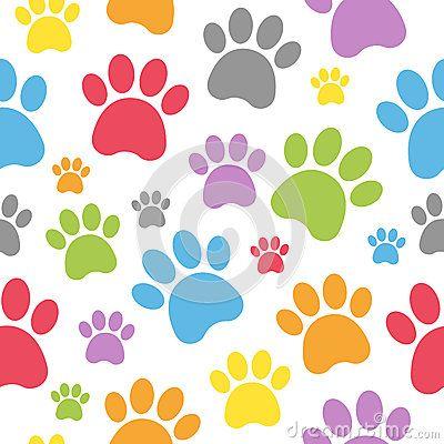 (RMR) Huellas de perro a color.                                                                                                                                                                                 Más