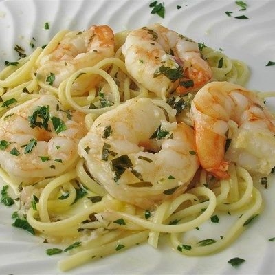 Shrimp Scampi with Pasta  - I think this one looks like Gemma & Jodilyn's recipe