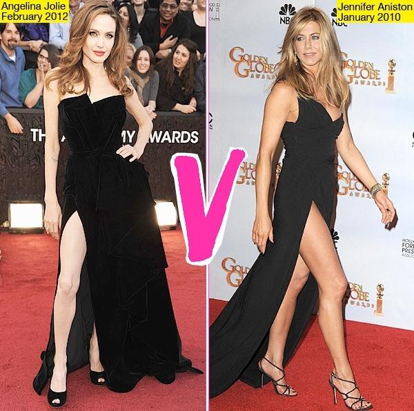 "Jennifer Aniston vs. Angelina Joile....who won the battle of the ""Leg""?"