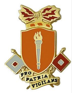 Signal School Unit Crest (Pro Patria Vigilans)