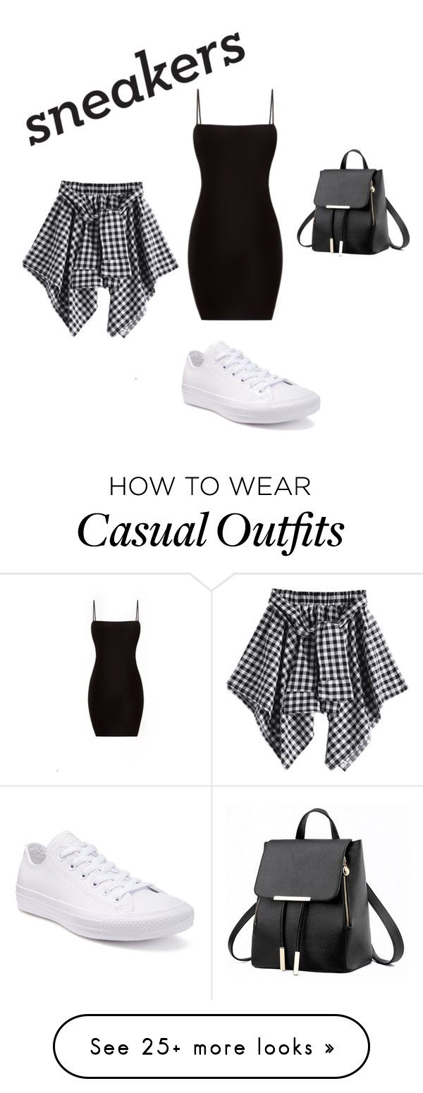 """casual w/ white sneakers"" by kaitykat40 on Polyvore featuring Converse"