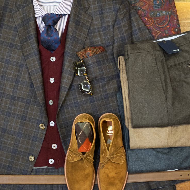 Flannel pants pair great with a plaid sport coat and a vest. Winter is here!