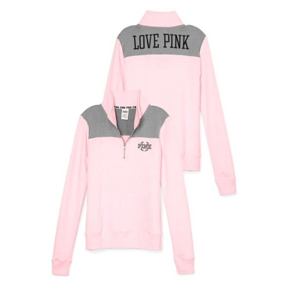 Vs Pink Half Zip Brand new. Size Large. Price is firm. PINK Victoria's Secret Sweaters