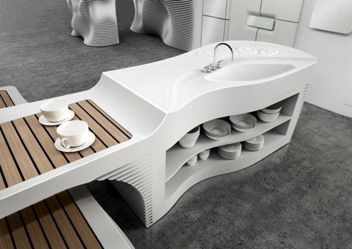 Mineralwerkstoff Hi Macs Schuhgeschäft Amsterdam Modernes Innendesign |  Küche Möbel   Küchen   Kücheninsel | Pinterest | Amsterdam, Trends And Mac