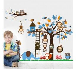 Safari Tree House wall sticker available at www.kidzdecor.co.za. Free postage throughout South Africa