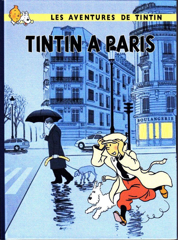 HOMMAGE A HERGE TINTIN A PARIS ALBUM CARTONNE EN COULEURS