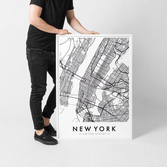 Poster  New York #poster #NY #USA #map #newyork