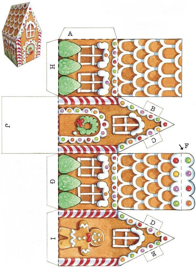 Бумажные домики и шаблоны по их изготовлению — Калинченко Ольга Владимировна