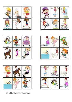 Ici vous pouvez trouver quelques cartes avec des images pour pratiquer quelques verbes d'action en français.Vous pouvez utiliser les cartes pour un jeu de loto, pour décrire les actions, pour écrire des phrases, etc. - Fiches FLE
