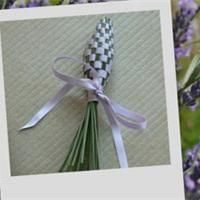 Lavender wands -- we have so much right now, glad to find something new to do with it!