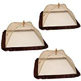 Amazon.com: Prextex set of 2 giant food tents with 4 tablecloth clamps that will keep your picnic tablecloth in Place, : Kitchen & Dining