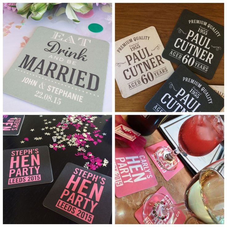 PERSONALISED BEER MATS Invites, Wedding, Birthday, Save the Date, Hen/Stag etc.. | eBay