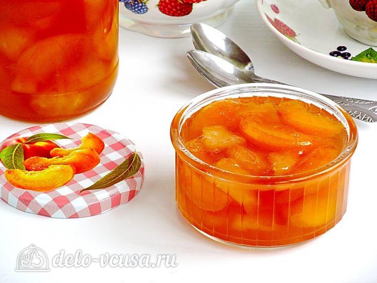 Варенье из персиков и консервированных ананасов #варенье #ананасы #консервация #рецепты #деловкуса #готовимсделовкуса