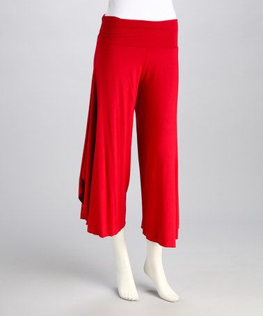Take a look at this Red Angel Gaucho Pants by Luna Claire on #zulily today!