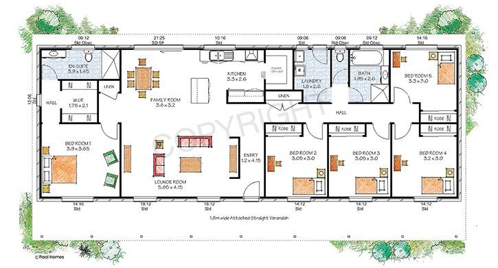 The berrima floor plan paal kit homes offer easy to for Queenslander floor plans