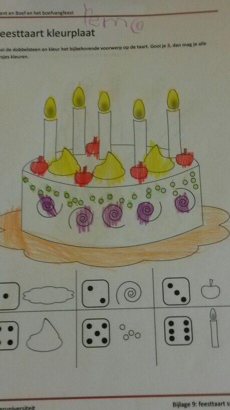 feesttaart kleurplaat kleurplaten taart