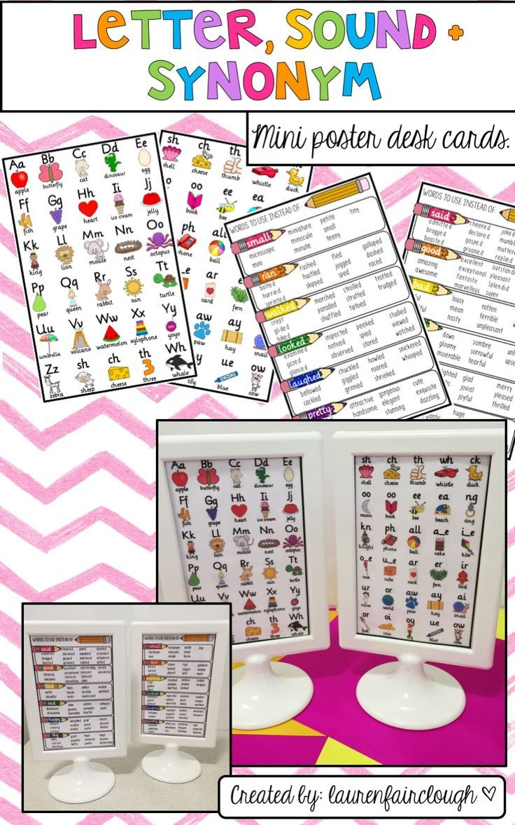 Letters Sounds And Synonyms Desk Strips Literacy And Numeracy Teaching Kindergarten Resources [ 1177 x 736 Pixel ]