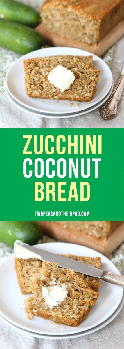 Zucchini Coconut Bread made with coconut oil is the BEST zucchini bread recipe! It is super moist and delicious!