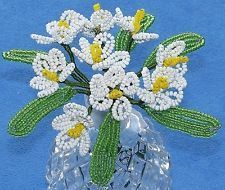 Vintage French Glass Beaded White