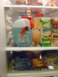 Elf on the Shelf Huge List of Ideas.  Turn milk BLUE!  Talk about fun cereal that morning!