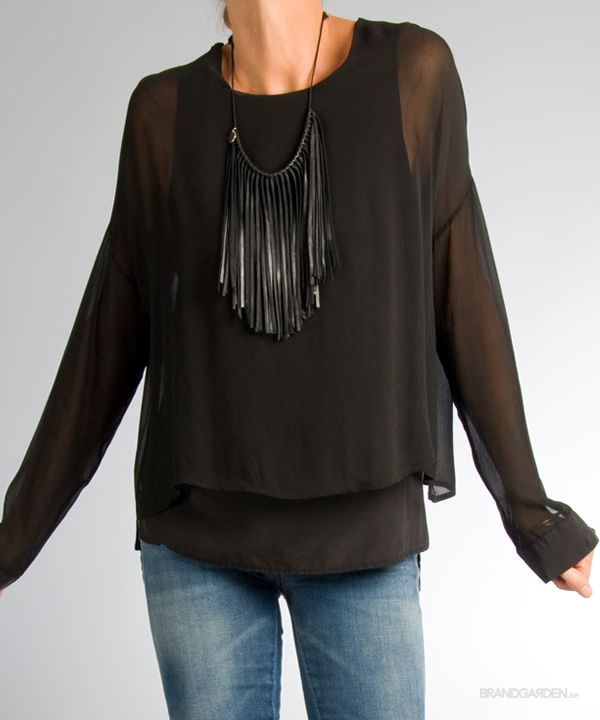 Gin Double Camica Blouse Nero Ottod'Ame